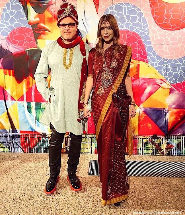Наталья Подольская и Владимир Пресняков на дне рождения в Индийском стиле