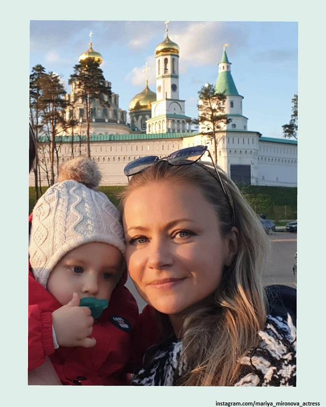 Мария Миронова с сыном Федей