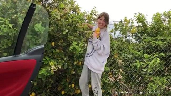 Дочка Алексея Панина ворует лимоны