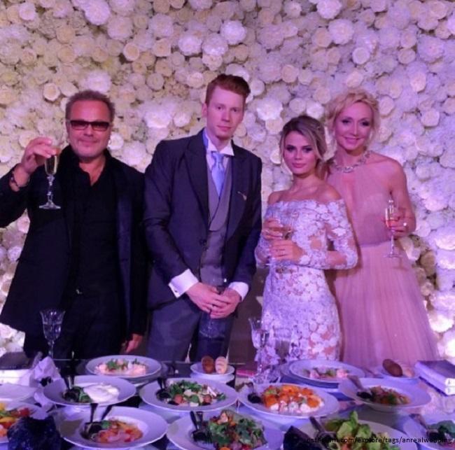 Владимир Пресняков и Кристина Орбакайте на свадьбе сына Никиты Преснякова