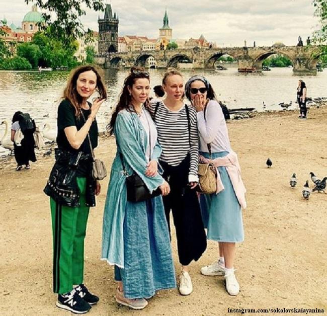 Марина Александрова, Ольга Ломоносова, Янина Соколовская и Анастасия Бегунова