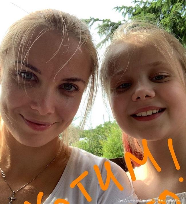 Татьяна Арнтгольц с дочерью