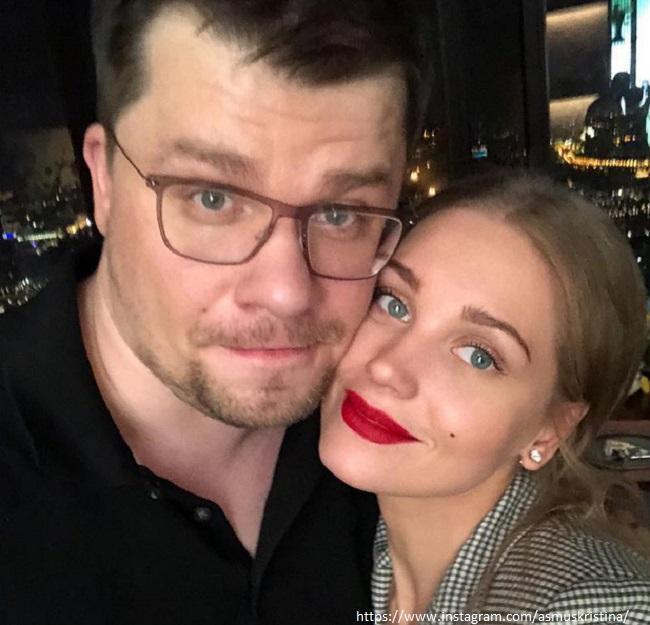 Кристина Асмус с бывшим мужем
