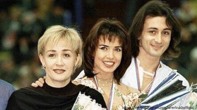 Илья Авербух с бывшей женой и трениром