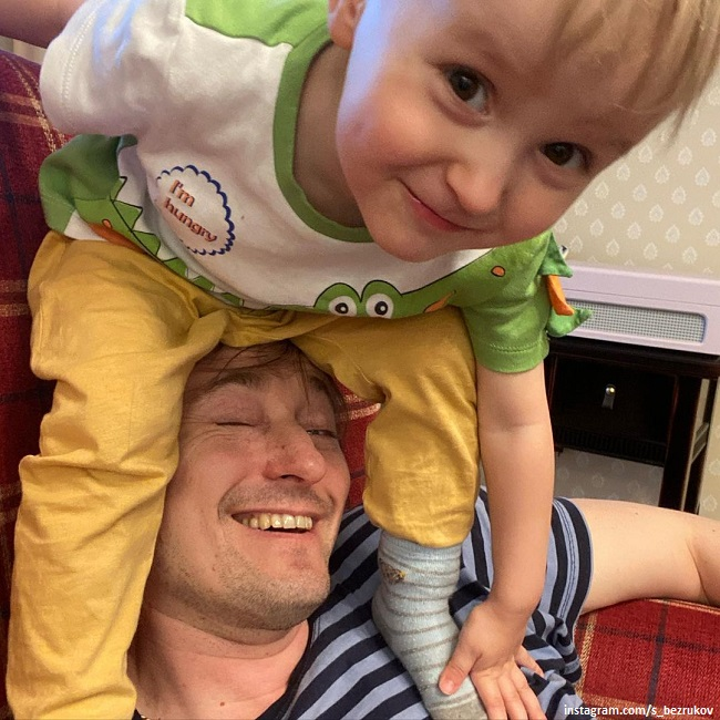 Сергей Безруков с сыном Степаном