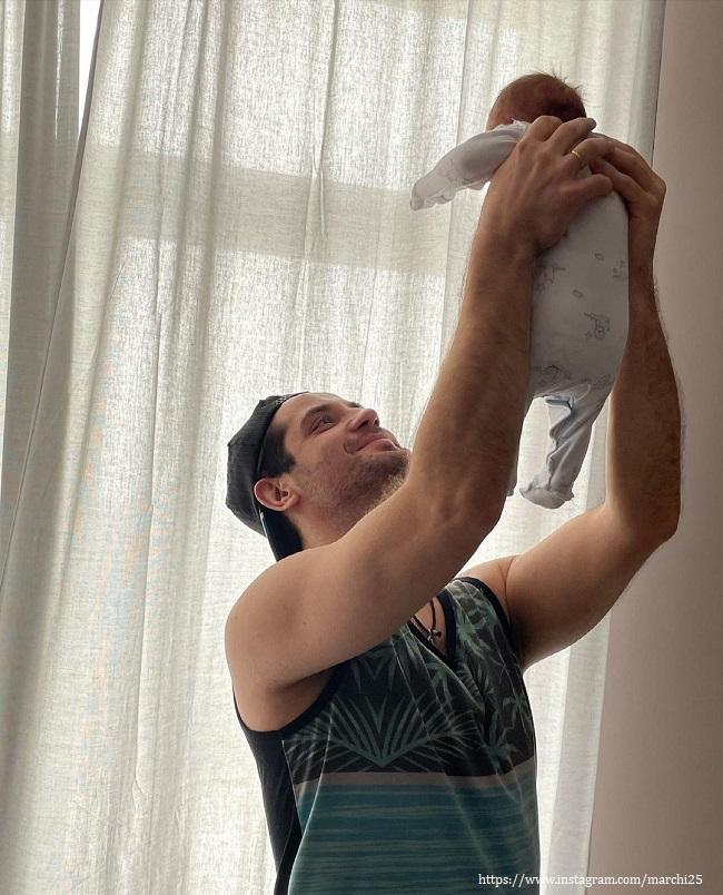 Марк Богатырев с сыном