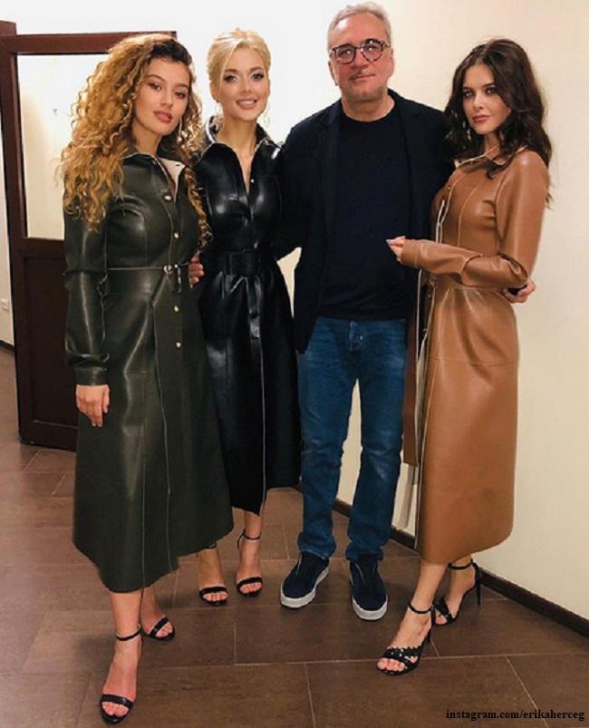 Константин Меладзе с Эрикой Герцег и другими участиниццами Виа Гры