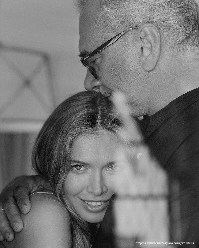 Вера Брежнева с мужем