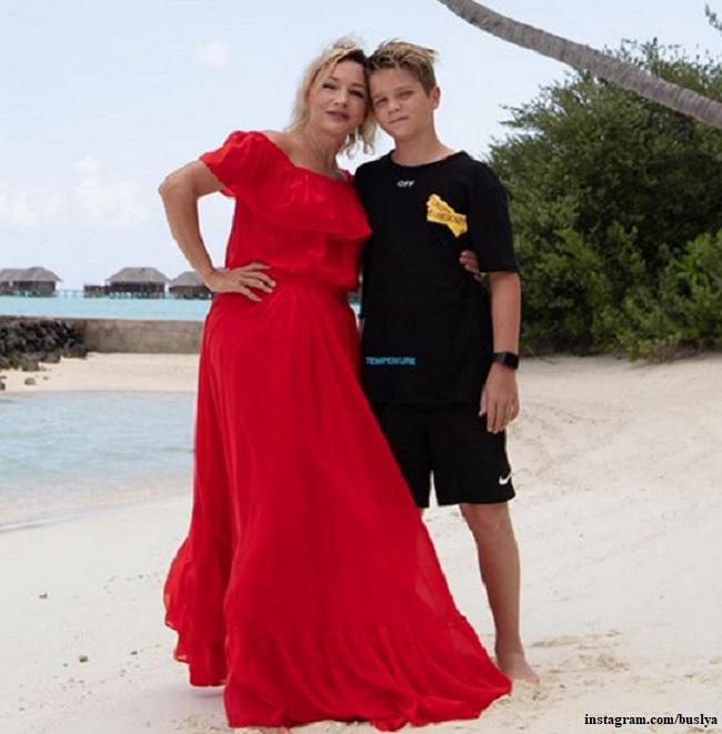 Татьяна Буланова с сыном Никитой