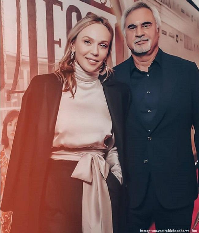 Альбина Джанабаева с мужем