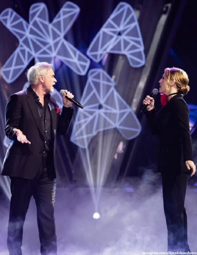 Альбина Джанабаева и Валерий Меладзе выступают на фестивале Жара