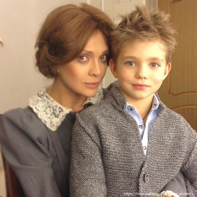Ольга Дроздова с сыном