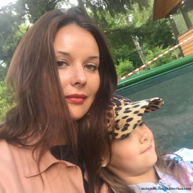 Оксана Федорова с дочерью Лизой