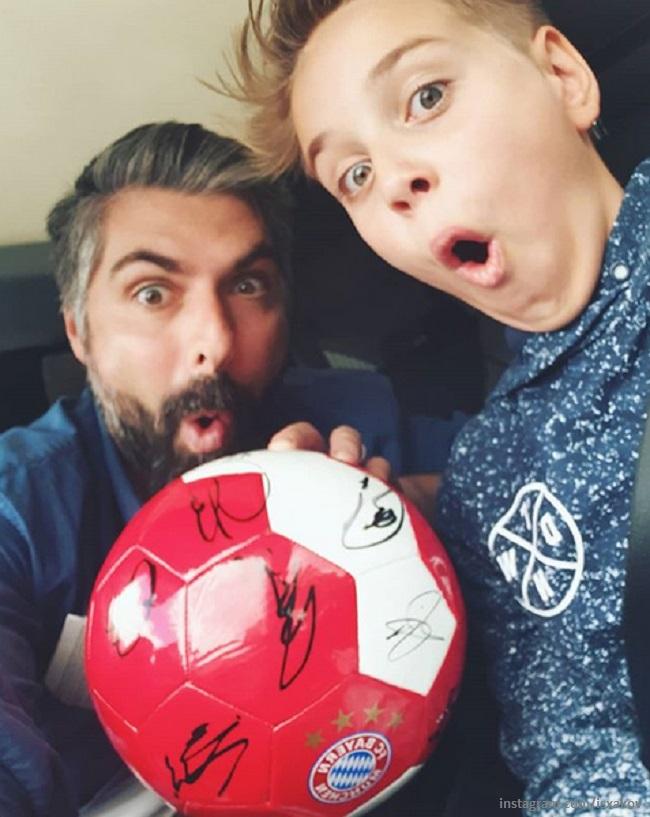 Дмитрий Исхаков с сыном Полины Гагариной