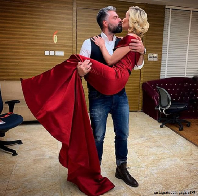 Polina Gagarina with her ex-husband