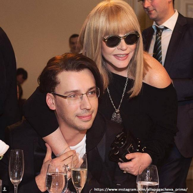 Maxim Galkin and Alla Pugacheva flirted with fans