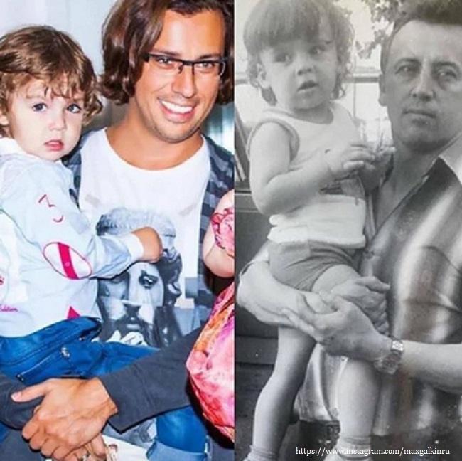Максим Галкин с отцом и сыном