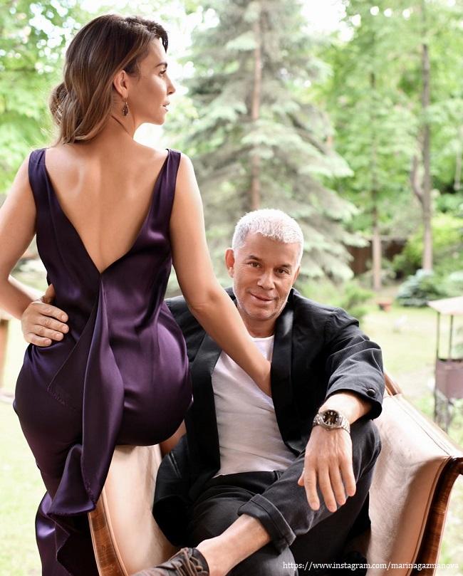The wife of Oleg Gazmanov has excited fans of racy photos in underwear