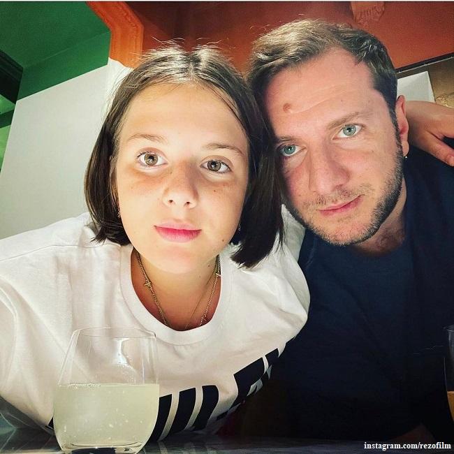 Резо Гигинеишвили с дочерью Ниной