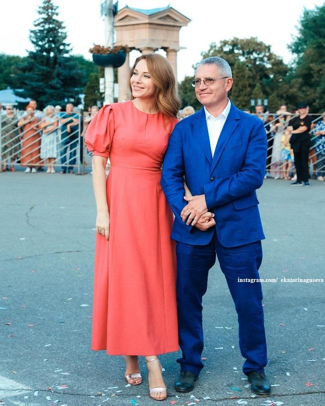 Екатерина Гусева с мужеем Владимиром Абашкиным