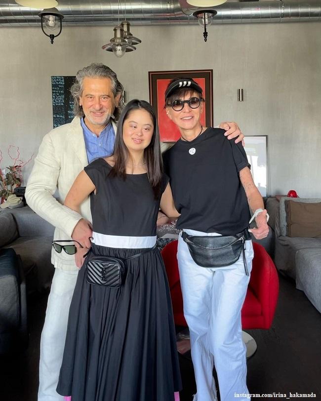 Ирина Хакамада с мужем и дочерью Марией