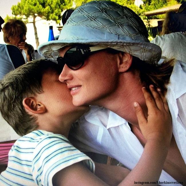 Светлана Хоркина с сыном Святославом