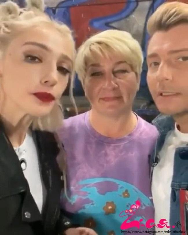 Настя Ивлеева с мамой и Николаем Басковым