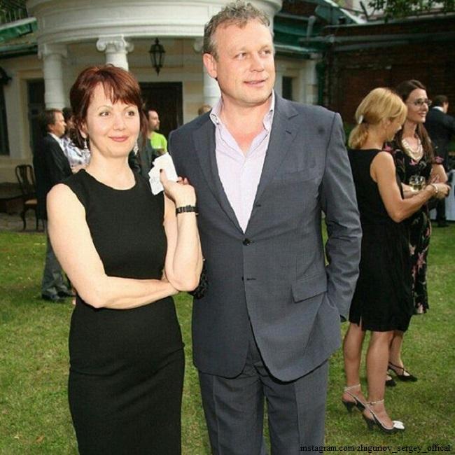 Сергей Жигунов с женой Верой Новиковой