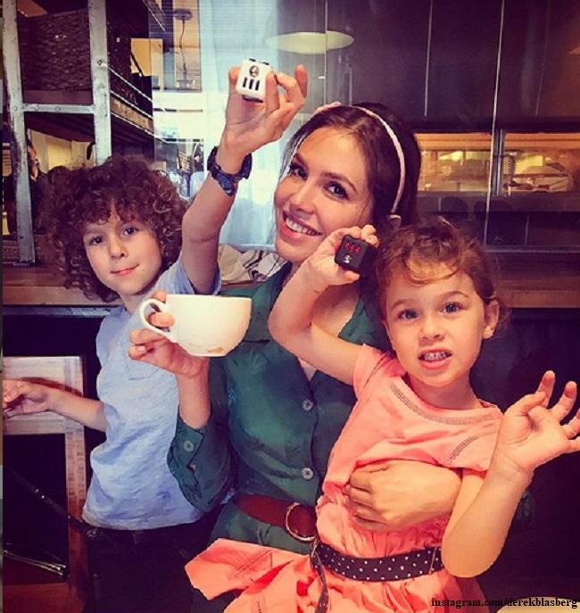 Дарья Жукова с детьми