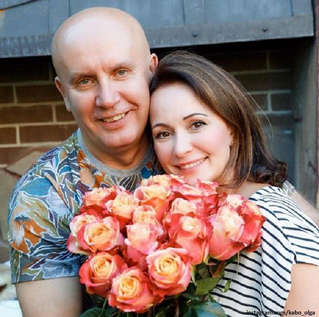 Ольга Кабо с мужем
