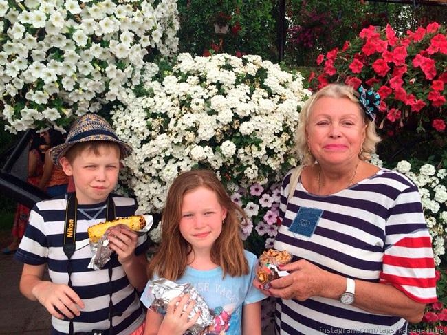 Людмила Поргина с внуками
