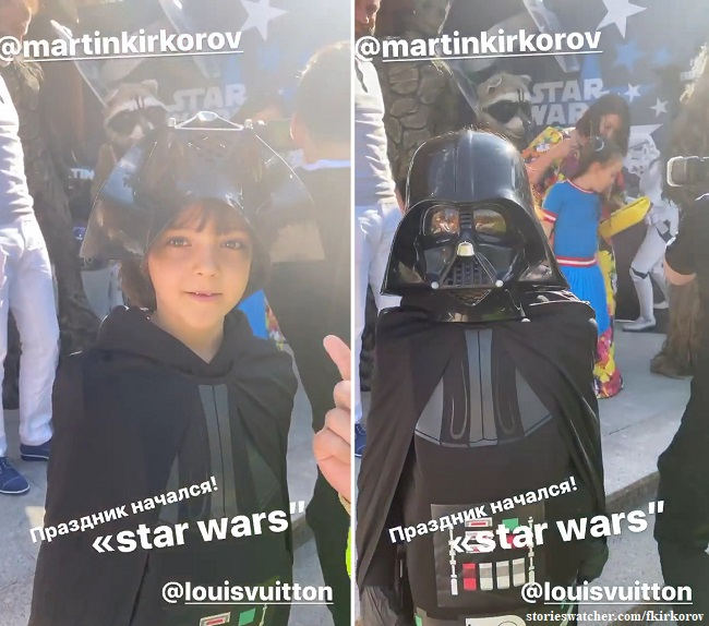 Martin Kirkorov in the costume of Darth Vader