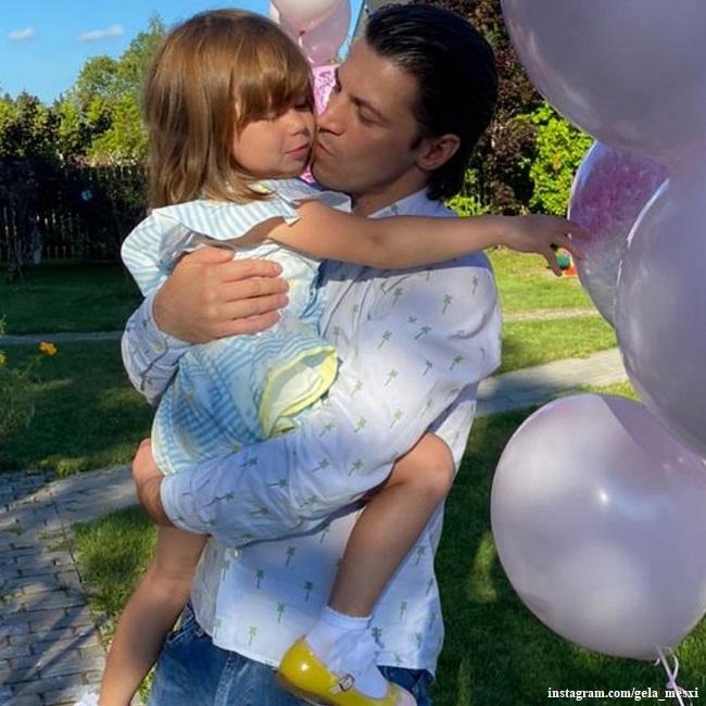 Гела Месхи с дочерь Беллой
