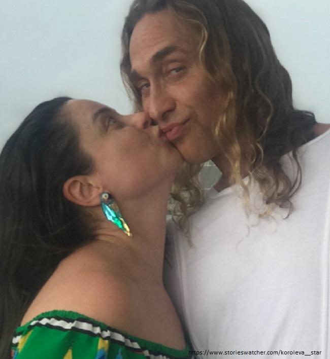 Natasha Koroleva with her husband