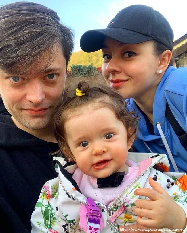 Марина Кравец с семьей