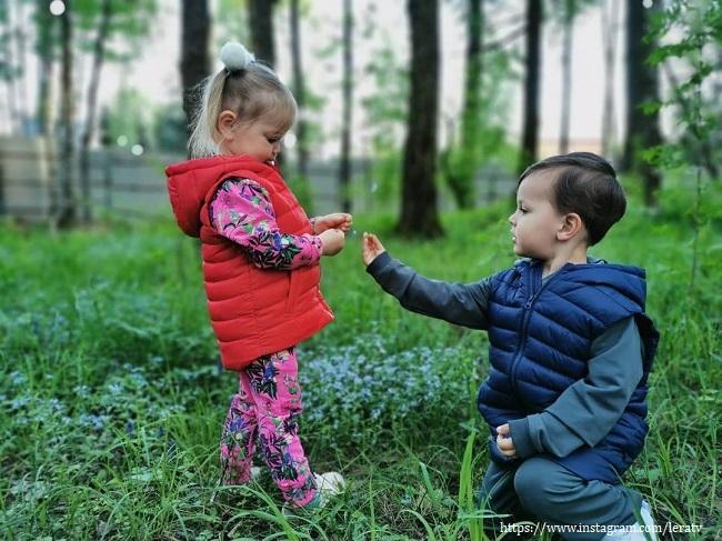 Дочь и внук Леры Кдрувцевой
