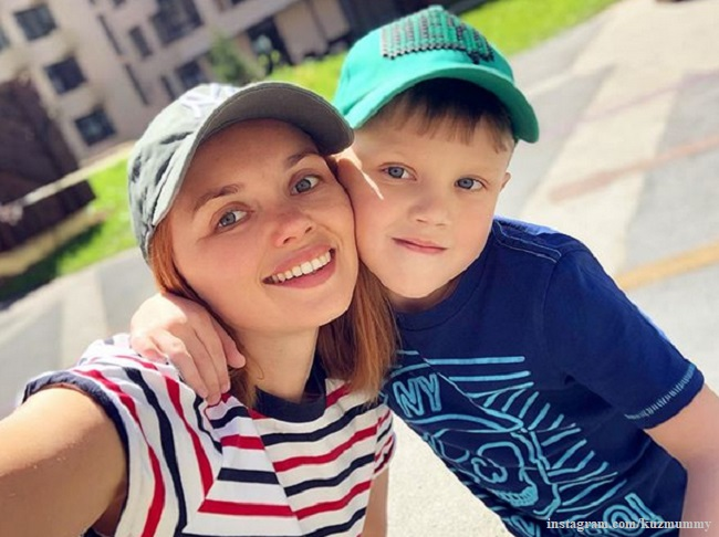 Ольга Кузьмина с сыном