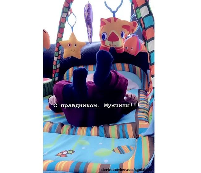 Сын Агнии Кузнецовой и Максима Петрова