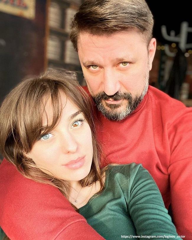 Виктор Логинов с молодой невестой
