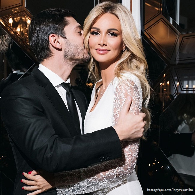 Victoria Lopyreva with her husband