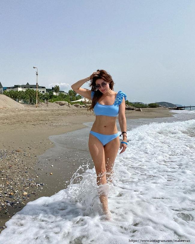 Anastasia Makeeva in a swimsuit