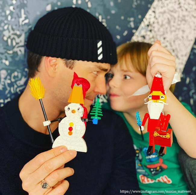 Максим Матвеев с сыном