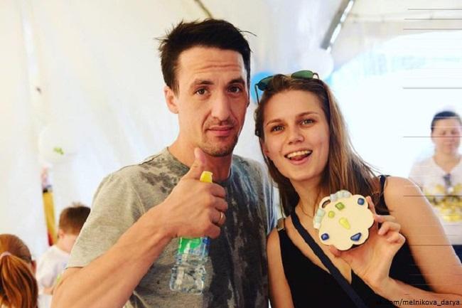 Дарья Мельникова с бывшим мужем