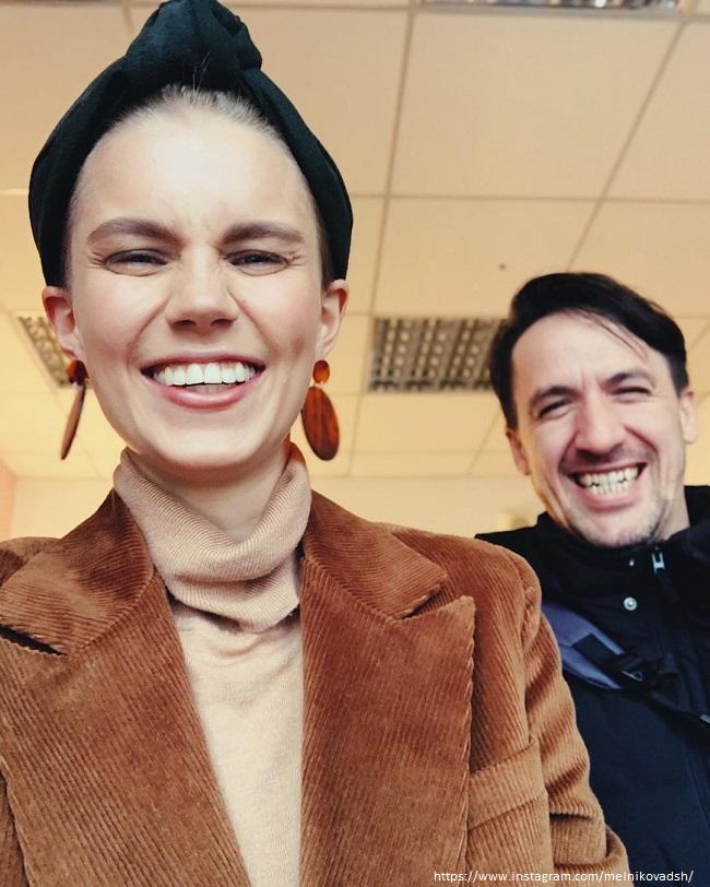 Дарья Мельникова с мужем