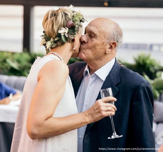 Юлия Меньшова с отцом