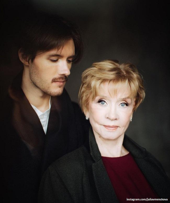 Вера Алентова с внуком Андреем