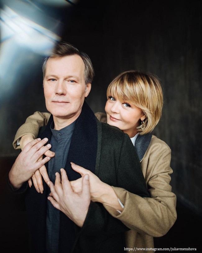 Юлия Меньшова с мужем