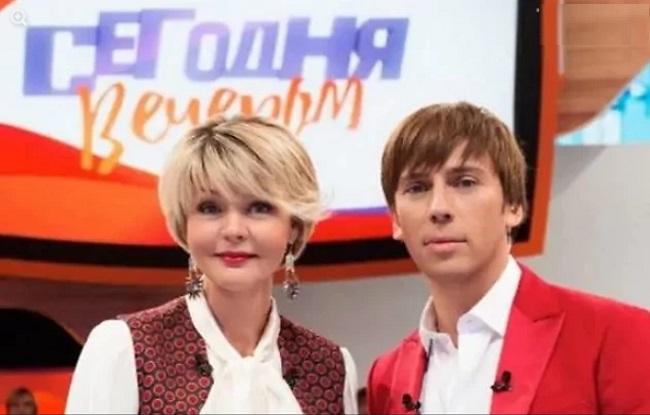 Юлия Меньшова и Максим Галкин. Кадр программы «Сегодня вечером»