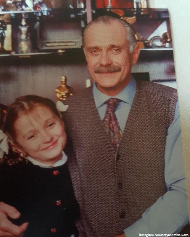 Никита Михалков с дочерью Надеждой