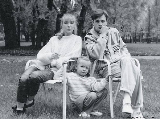 Марина Левтова и Юрий Мороз с дочерью Дарьей